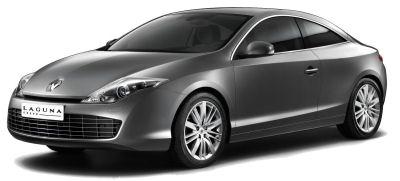 Renault investi le segment des coupés gran tourisme avec cette Renault Laguna Coupé, répondant avec quelque retard aux Peugeot 406 Coupé et Peugeot 407 Coupé. Force est de reconnaître que pour une fois, les designers Renault ont su créer un coupé attrayant, esthétiquement réussi, sans les lourdeurs de la Peugeot 407 Coupé. Des moteurs V6, essence et diesel sont au programme, dont le nouveau bloc V6 dCi (moteur V9). Le système à quatre roues directrices <b>Active Drive</b> de Renault assure à ce coupé une tenue de route irréprochable.